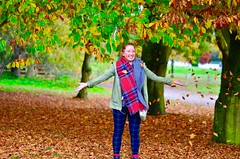 Autumn Girl! (gerard.whittle1) Tags: autumn flickr estrellas ciara nottinghamshire clumberpark sigma105mmlens nikond7000
