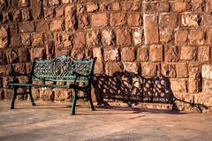 Le banc de matin (- Ali Rankouhi) Tags: park fall water bench fire iran tehran  banc      2015 1394