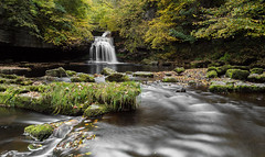 West Burton Falls (Steven Peachey) Tags: uk autumn trees england water leaves canon landscape photography exposure yorkshire wideangle waterfalls vanguard ef1740mmf4l lee09gnd leefilters canon6d lightroom5 hawkdog