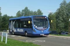 First SN64 CKU - 47614 (S925 AKS) Tags: road 3 bus wheel first wright bluebird lime midland psv grangemouth falkirk tamfourhill streetlite 47614 sn64cku