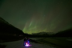 Kid's First Aurora :) (wolphcry) Tags: alaska aurora valdez northernlights thompsonpass