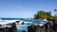 Waialohe Point (Dave Fine) Tags: ocean road park cloud beach nature weather landscape outdoors island hawaii lava coast us rocks waterfront unitedstates shoreline wave maui hana shore coastline seashore breaking breakingwave roadtohana