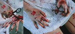 (francesca richardi) Tags: blood hands zombie makeup special scissors nails fx specialeffects