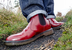 Oxblood. Dr Marten. Chelsea. (CWhatPhotos) Tags: pictures red fashion that cherry photography boot chelsea foto view image artistic pics dr smooth picture pic olympus images have photographs photograph footwear fotos slip tough iconic which dm docs contain airwair martens dms oxblood slipon tg4 cwhatphotos