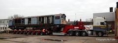 131. 58008's move at Eastleigh. 18-Dec-15. Ref-D116-P131 (paulfuller128) Tags: low transport class international modular depot bone trailer loader 58 modules eastleigh 58008 moveright c58lg