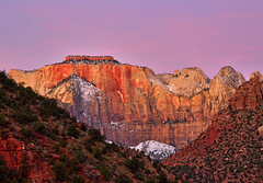 Zion Valleys Purple Hour (Dave Toussaint (www.photographersnature.com)) Tags: travel pink usa southwest nature photoshop canon landscape dawn utah photo interestingness google interesting ut raw photographer purple image scenic picture clarity september explore cc adobe valley getty bluehour zionnationalpark adjust 2015 denoise topazlabs photographersnaturecom davetoussaint 5dmarkiii creativecloud
