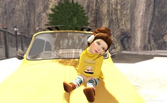 Merry Christmas Ready (delisadventures) Tags: christmas winter baby cold tree cute sunshine yellow silver stars landscape design little sl gaming secondlife tiny charliebrown earmuffs trinkets toddle littlestars slfashion tinytrinkets toddleedoo