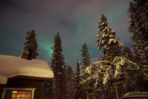 DSC00567 Aurora Borealis over Mökki