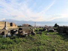 262 | [unidentified location]  Pompeii (Mark & Naomi Iliff) Tags: sky italy mountains archaeology clouds site ancient italia roman pompeii colum excavations scavi