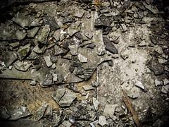 Asbestos Floor Tile Damage From Trampling (Asbestorama) Tags: asbestos acm survey hazard ih safety inspection assessment evaluation floor tile damage debris friable