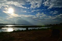 Vientiane (makingacross) Tags: laos pdr nikon d3000 vientiane mekong river laosthailand border clouds sky
