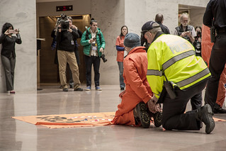 Sherrill Hogan Is Arrested During an Anti-Torture Demonstration at the Hart Senate Office Building