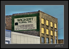 Wickert Floral Co (the Gallopping Geezer '4.2' million + views....) Tags: sign signs signage ghostsign faded worn wall building structure smalltown mainstreet escanaba mi michigan upperpeninsula up product ad advertise advertisement sales canon 5d3 tamron 28300 geezer 2016