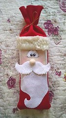 Porta Bis de Papi Noel (Feito a mão [by Rafa]) Tags: feltro fieltro felt rafagibrim fofo cute enfeite presente lembrança artesanato natal portabis papainoel