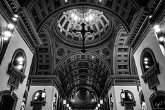 Symmetry (cpjRVA) Tags: leicaq leica virginia richmond cathedral church cathedralofthesacredheart monochrome blackandwhite va rva