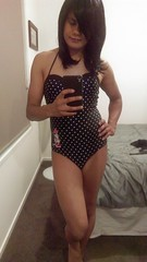 One-piece Disney Minnie Mouse Swimsuit (~*Haley*~) Tags: shemale trap tranny teenshemale teentrap teencrossdresser teen swimsuit minnie mouse polkadot swimwear crossdresser crossdressing onepieceswimsuit