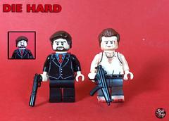 Custom LEGO Die Hard: Hans Gruber and John McClane (JerdFigs) Tags: die hard lego hans gruber john mcclane