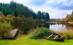 Loch Ard (billmac_sco) Tags: scotland loch ard water boat jetty trees