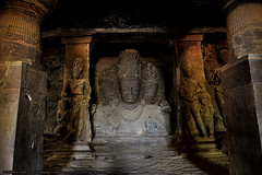 EXQUISITE ELEPHANTA (GOPAN G. NAIR [ GOPS Photography ]) Tags: gopsorg gops gopsphotography gopangnair gopan photography elephanta caves india mumbai shiva siva architecture indian hindu carving stone rock arabian sea