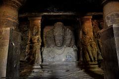 EXQUISITE ELEPHANTA (GOPAN G. NAIR [ GOPS Creativ ]) Tags: gopsorg gops gopsphotography gopangnair gopan photography elephanta caves india mumbai shiva siva architecture indian hindu carving stone rock arabian sea