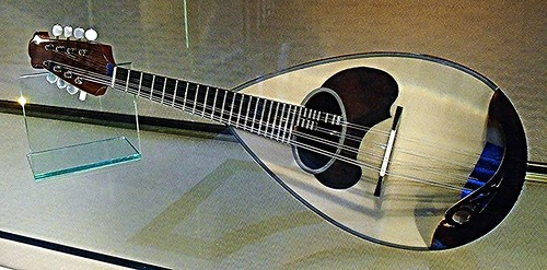 Modern mandolin by Raffaele Calace - Temporary exhibition at Stock Exchange Palace in Naples
