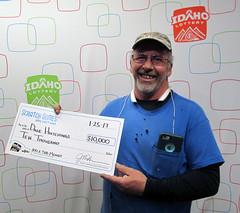 Dale Hutchings - $10,000 100X The Money (Idaho Lottery) Tags: idaholottery wooh dalehutchings 100xthemoney scratchgames caldwellidaho jacksons middletonidaho