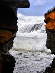 sml-fhdr-DSCN0136 (elphweb) Tags: roughseas roughsea ocean nsw australia sea water waves breakers storm coast coastal falsehdr fhdr bigwaves bigsurf surf foam mist