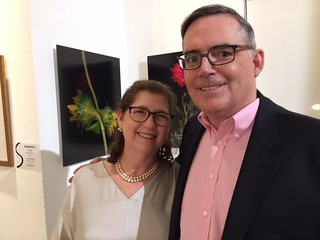 Curator Ilana Vardy with husband and photographer Toby Braun at the Sagamore Hotel gallery opening
