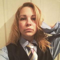 Honey (bof352000) Tags: woman tie necktie suit shirt fashion businesswoman elegance class strict femme cravate costume chemise mode affaire