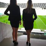 Hostese NK Olimpija na tekmi z Rudarjem.