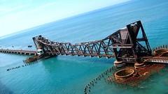 Pamban Bridge - A Railway Bridge,Rameswaram, Tamil Nadu, India. (asithmohan29) Tags: httpbitly2mf6g3p httpdailyx5e8f8l pambanbridge bridge conventionalbridge india indiasfirstseabridge indiantouristplaces indiantrains longestseabridge pamban pambanbridgevideo pambanisland placestovisit pointofinterest railwaybridge railways rameshwarambridge rameswaram seabridge tamilnadutouristplaces tourism touristattraction touristplaces touristplacesp trainoverthesea