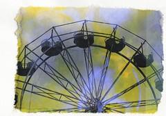 (mikehip) Tags: holga 35mm filmsoup film color catchycolors filmisnotdead ferriswheel altprocess print photography ny newyork sky yellow metal fair fall