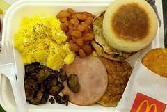 McD Grand Platter (阿Dex) Tags: mcdonald mcd breakfast muffin egg chicken ham hashbrown mushroom bean food yummy penang malaysia
