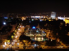 Tirana after dark (kosova cajun) Tags: fountain night lights skytower albania tirana taivan tiran drit taivani natn