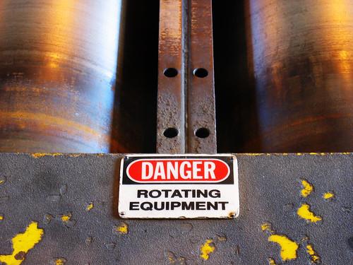 sign danger warning s410 treadmill dynamometer