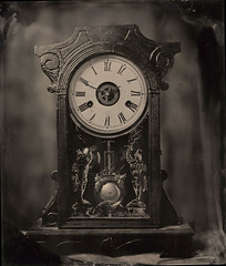clock tintype (Zmanphoto) Tags: clock tintype ambrotype wetplate speedgraphic alternativeprocess collodion