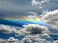 a rare circumhorizon arc (Carplips) Tags: sky rainbow spokane cumulus skyblue cirrus chaotic circumhorizonarc stratocumulus opticalphenomena