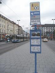 Route to FIFA-WM-StadionTM (Stadtneurotiker) Tags: germany munich münchen deutschland football fifa soccer 2006 weltmeisterschaft wm worldcup mvv fusball öpnv feverpitch mvg stadtneurotiker