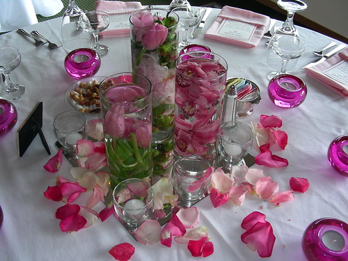 Centerpieces Tracy Hunter Tags pink wedding roses flower orchids tulips