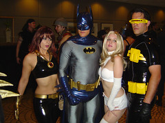 Superhero Mingling (megadem) Tags: costumes cosplay cyclops xmen superhero batman dragoncon jeangrey dragoncon2005
