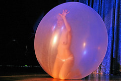 Julie Atlas Muz nude in a giant bubble