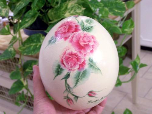 deve kuşu yumurtası boyama..