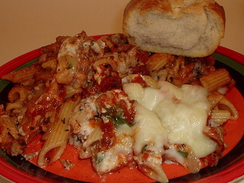 Baked Penne & Sausage after :)
