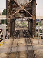 Chicago River (Steven Vance) Tags: railroad bridge chicago river canal chinatown lift pilsen amtrak metra rockisland cermak southbranch lumberst