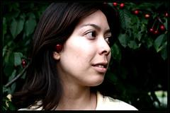 cherry blossom girl: iry (christinarizk) Tags: trees cherry europe skin pale southerngermany cherryearrings biengen irisichishta
