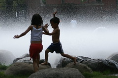 Summer!! (Greg Adams Photography) Tags: life summer water fountain kids fun jumping harvard splash summerscenes spselection challengeyouwinner hhsc2000