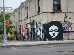 (C-Monster) Tags: nyc streetart newyork brooklyn graffiti williamsburg seizer openyoureyes