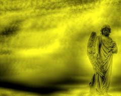 yellowangel (K e v i n) Tags: cemetery grave yellow statue angel illinois tombstone il yellowangel