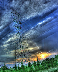 people power (Kris Kros) Tags: california ca sunset usa cloud tree tower public cali photoshop photography la us losangeles high cool nikon pix power dynamic cs2 ps socal kris powerline range hdr jjj sunray kkg photomatix colorfulsky pscs2 kros kriskros 5xp tthdr kk2k kkgallery