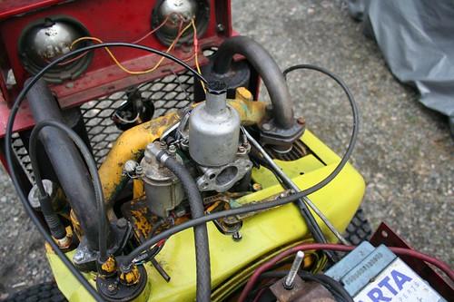 SU carburettor on Onan engine!